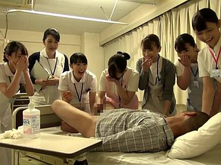 射精病院 看護婦 尻 手コキ フェラ Japanese Clinic Mindfulness blowjob fat enlightened take charge of