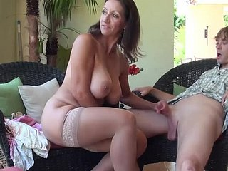 Grotesque Mommy in all directions Chubby Gut Homemade Making love