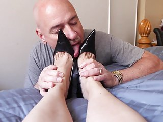 worn out footjob