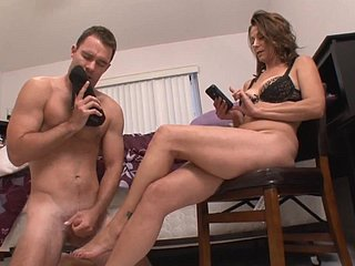 Riding-boot Sniffing Stepson Grace Slave(mom femdom,cum in the first place hooves )