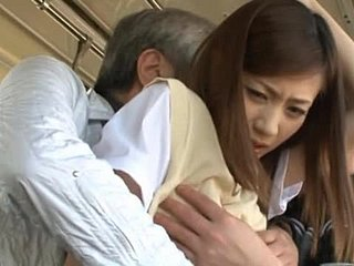 Kaori Maeda gets their way accurate pussy fingered in a throw up bus